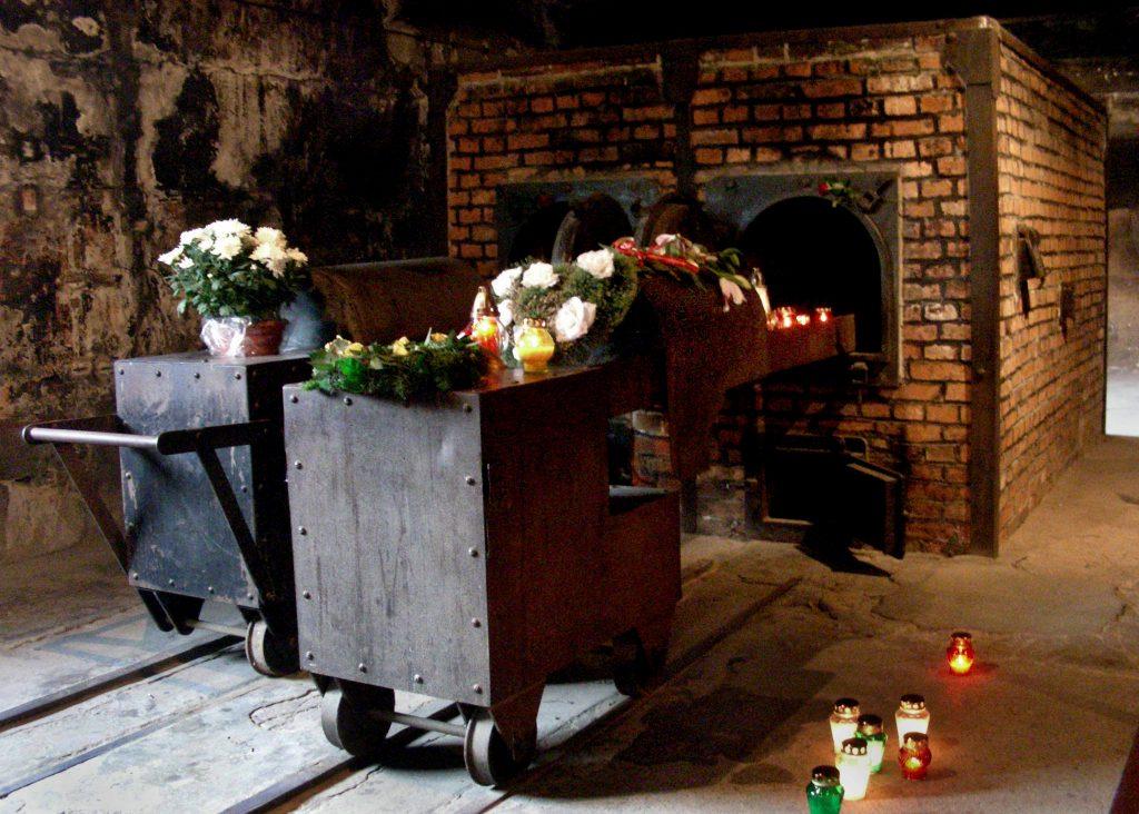 Krematoriumsöfen im Stammlager Auschwitz.